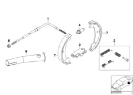 Parking brake/brake shoes