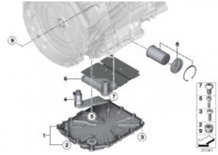 GS7D36BG oil pan