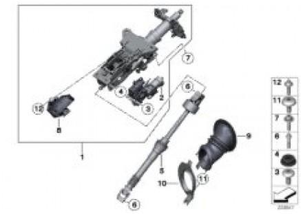Electron.steer. column adj./add-on parts