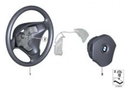 Steering wheel, leather, multif./airbag