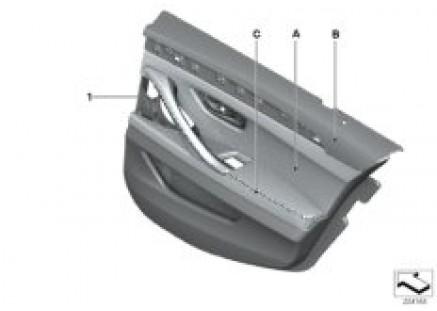 Individual door inset, rear