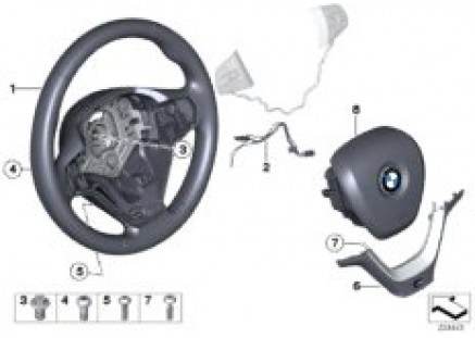M sports strng whl,airbag,multifunction