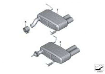 BMW Performance muffler system