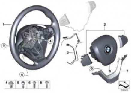Airbag sports steering wheel