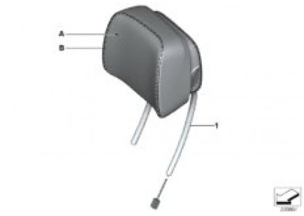 Individual headrest, front