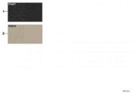 Samples, upholstery colors, leather/fabr
