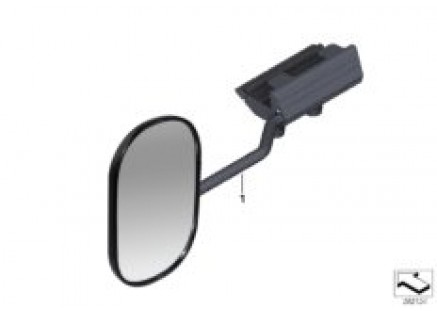 Exterior mirror for towing