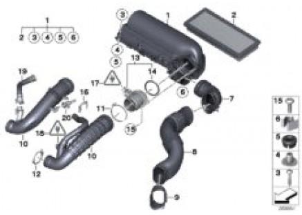 Intake muffler/Filter cartridge/HFM