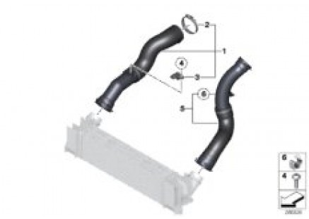 Charge air induction tract