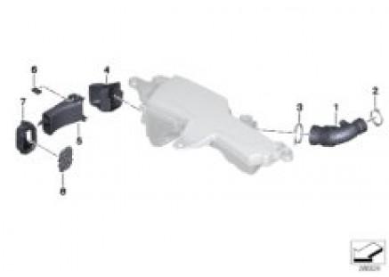 Air duct, intake silencer