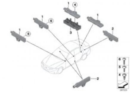 Single parts, antenna, Comfort access