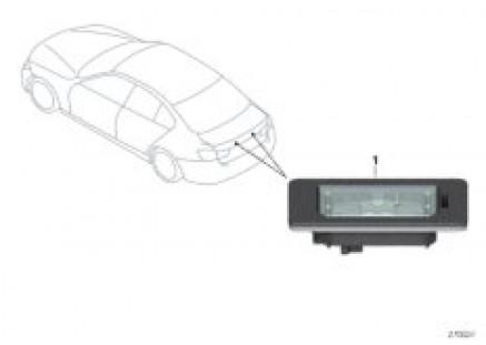 License plate lamp, LED