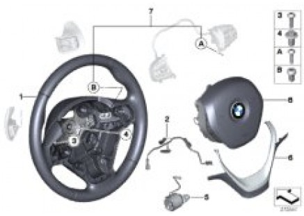 Sports st. wheel airbag multif./paddles