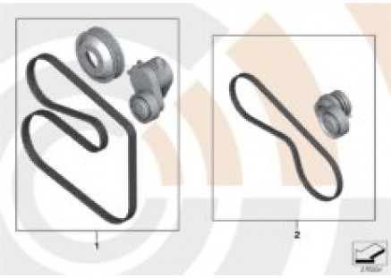 Service kit for belt drives