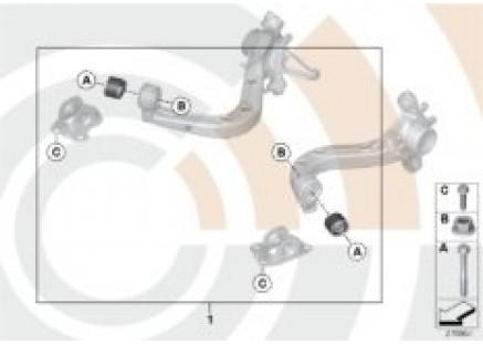 Repair kit for trailing arm