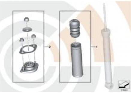 Repair kits, shock absorber rear