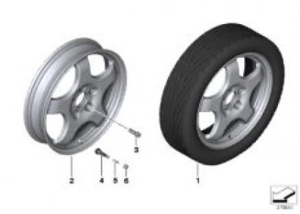 Emergency wheel, light alloy
