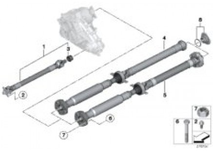 4-wheel drive shaft/Insert nut