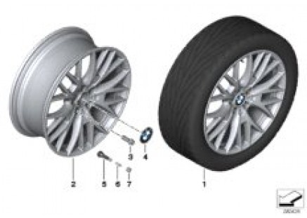 BMW LA wheel Cross-Spoke 404-20''