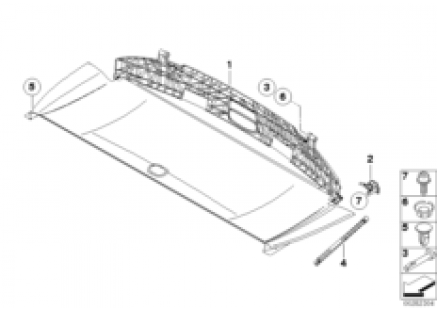 Folding top compartment