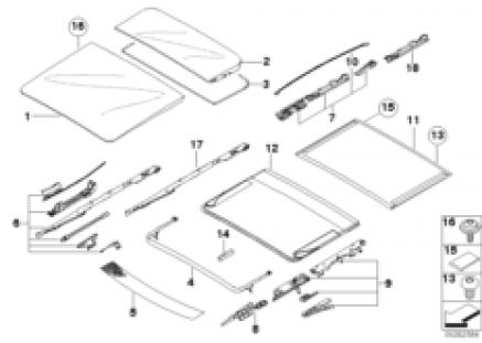Slid.lift. roof-cover/ceiling frame