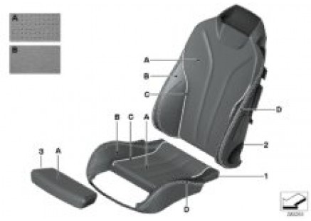 Individ. cover Sport seat perf. leather