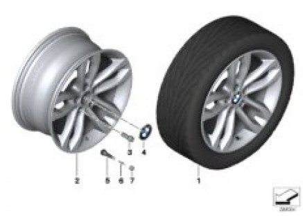 BMW LA wheel, Double Spoke 424