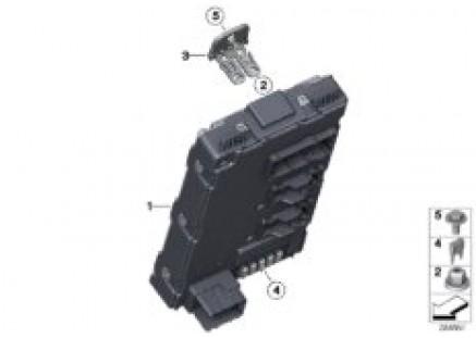 Control unit, rear electronic module