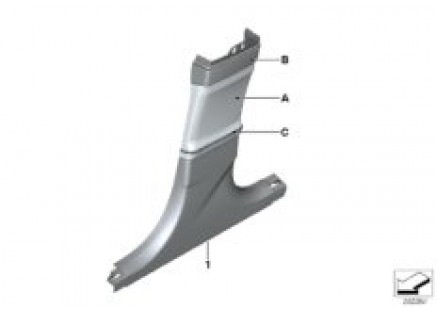 Individual trim panel Column-B bottom