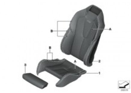 Individual sports seat cover, front