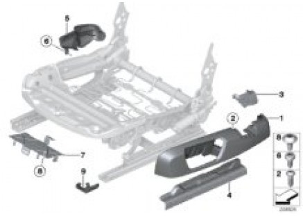 Seat, front, seat trim covers, electric