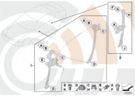 Mounting hardware kit, power window