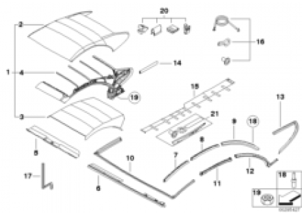 Electrical folding top