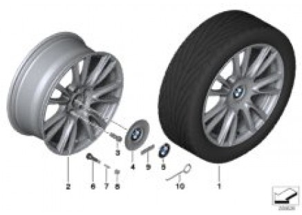 BMW LA wheel Individual V-Spoke 439-19''