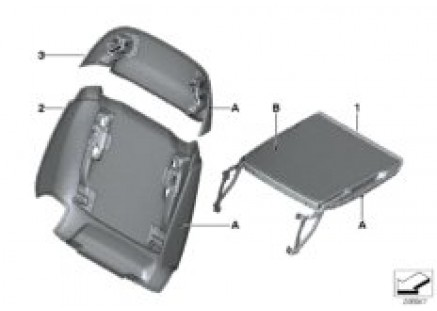 Individual rear partition/folding tray