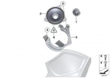 High-end sound system C-pillar