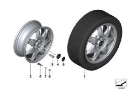 MINI LA wheel Delta spoke 96