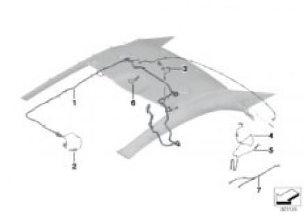Wiring harness, hardtop, retractable