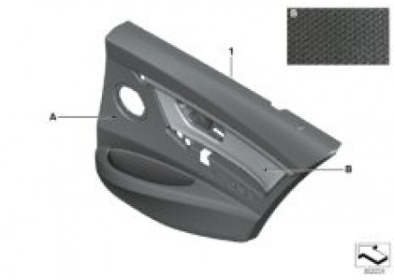 Indiv. door trim panel, leather rear