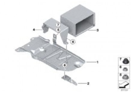 Mounting parts for 2nd battery