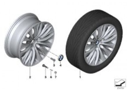 BMW LA wheel Multi-Spoke 459 - 20''