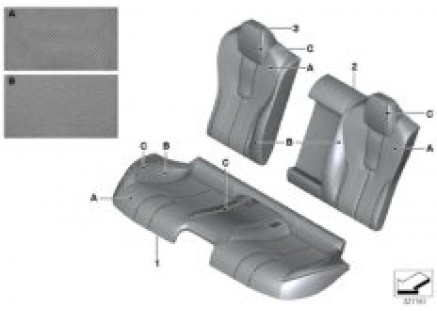 Individual cover Klima-Leather, rear