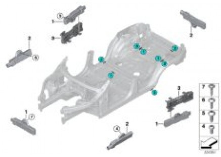 Single parts for Comfort Access antenna
