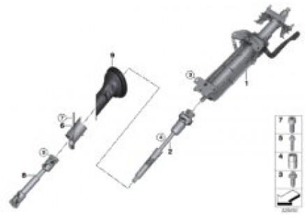 Steering column, manual / steering shaft