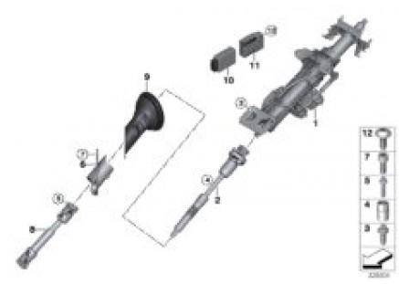 Steering column, electr./ steering shaft
