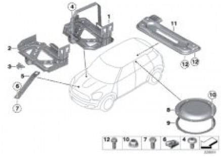 Assembly parts for bodywork