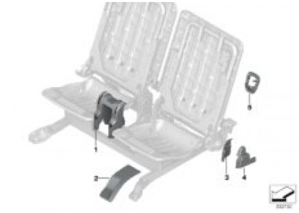 Seat, rear, trim covers, 3rd row