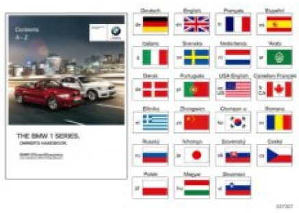 Owner's manual for E82, E88 with iDrive