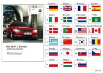 Owner's manual for E92, E93 with iDrive