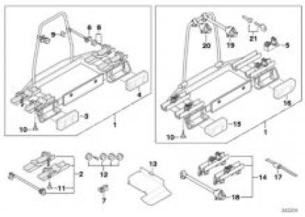 Bicycle carrier, trailer coupling